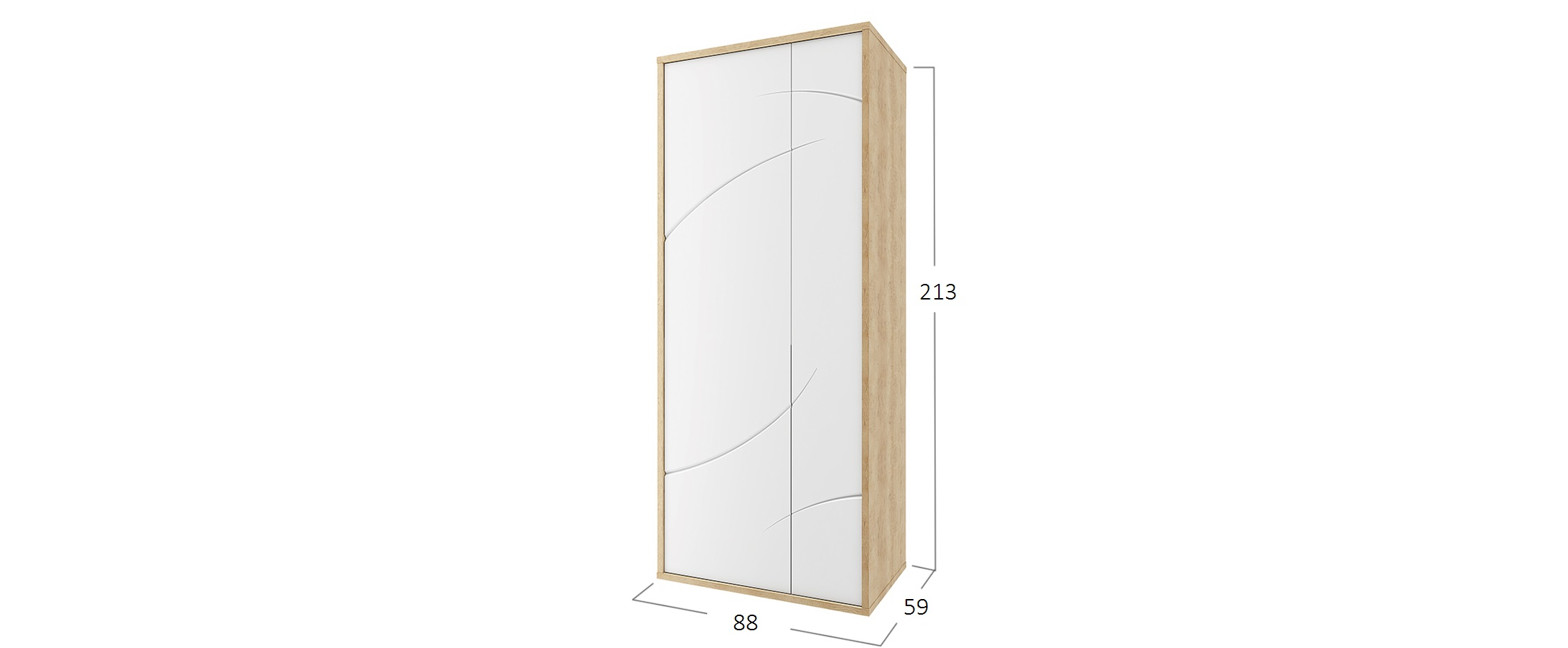Шкаф 2 двери Мадейра