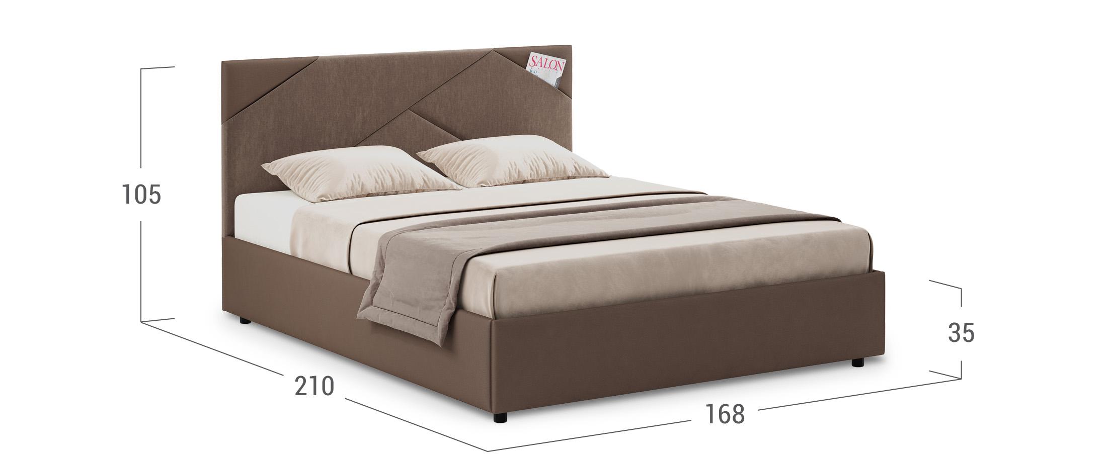 Кровать двуспальная Альба 160х200 Модель 1206